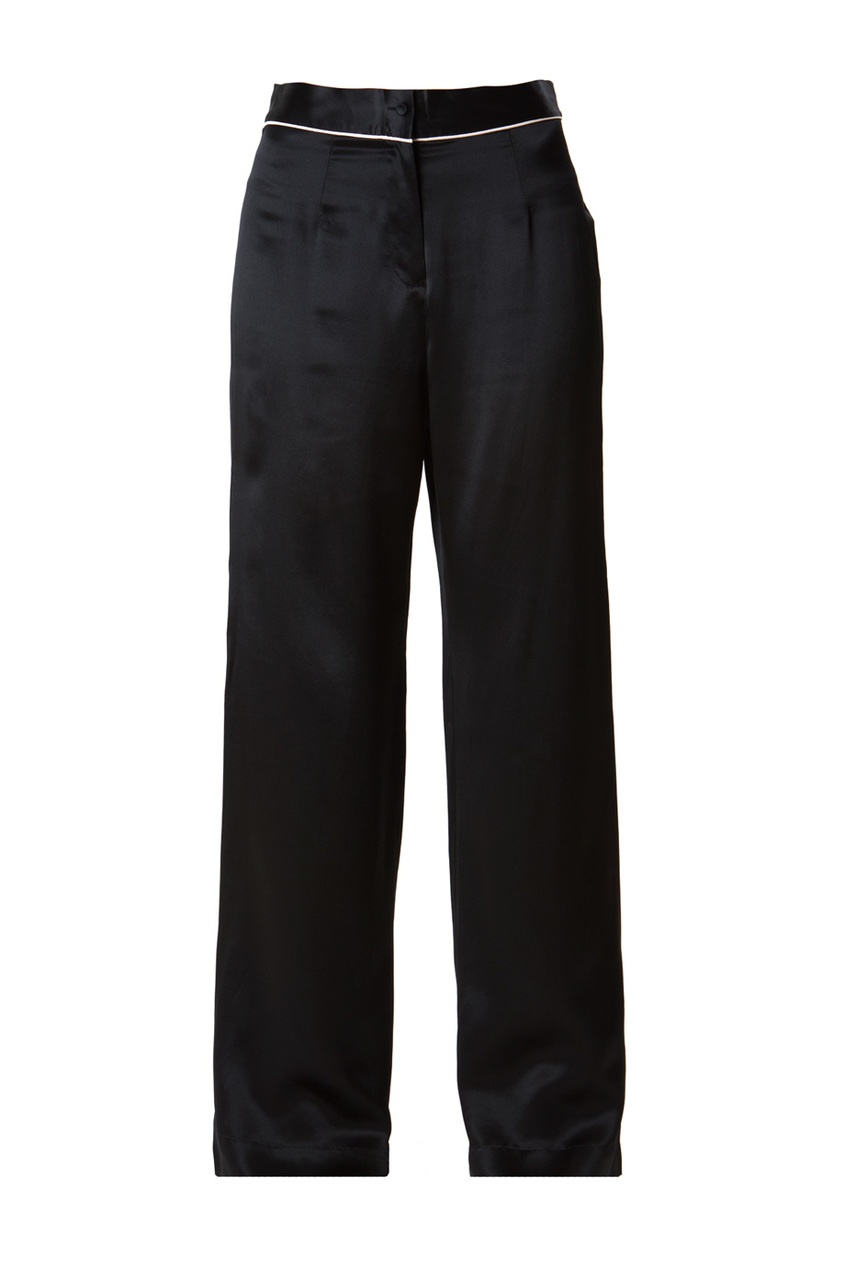 Брюки Classic PyjamaЧерное белье<br>Роскошные брюки из чистого шелка в сочетании с верхней частью Classic Pyjama интересно дополнят вашу будуар-коллекцию.<br><br>Возраст: Взрослый<br>Размер unitSize=: M (3 AP)<br>Цвет: черный<br>Пол: Женское