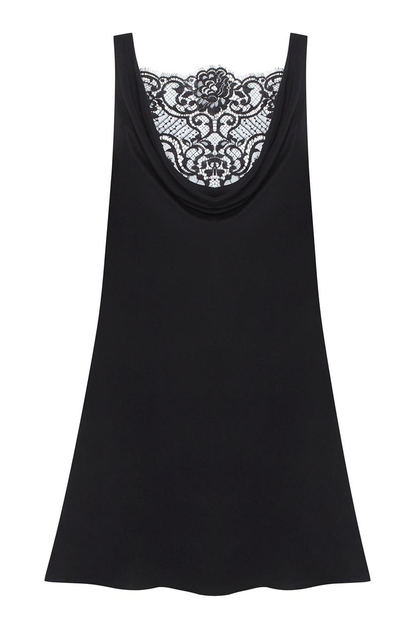 Платье VallerieПлатья<br>Vallerie &amp;ndash; соблазнительное мини-платье, которое Вы непременно захотите продемонстрировать.<br><br>&amp;nbsp;<br><br>Нежнейший черный шифон элегантно ниспадает вдоль тела, образуя спереди и сзади хомут, обнажающий сексуальный изгиб спины. Выразительное французское кружево спускается от плеч до самой поясницы и создает роскошный образ в стиле кинозвезды нуара.<br><br>Возраст: Взрослый<br>Размер unitSize=AP: 4<br>Цвет: черный<br>Пол: Женское