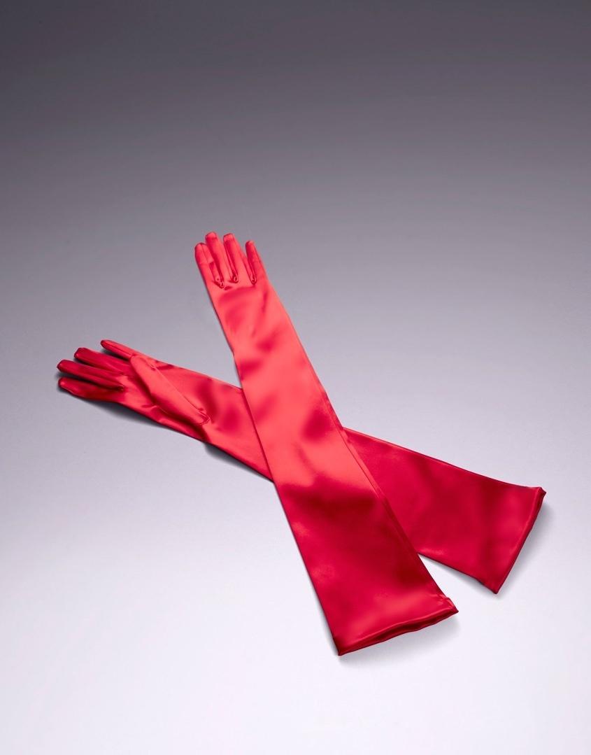 Перчатки Long SatinАксессуары<br>Классические длинные перчатки, созданные из невероятно мягкого красного атласа, добавят нотку винтажного шика Вашему образу.<br><br>Возраст: Взрослый<br>Размер: S (2 AP);M (3 AP)<br>Цвет: Красный<br>Пол: Женский