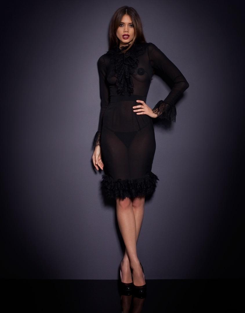 Полупрозрачное платье-халат Morrigan от Agent Provocateur